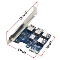 Riser Card PCI E USB 3 0 PCIe Port Multiplier Card PCI Express PCIe 1 To