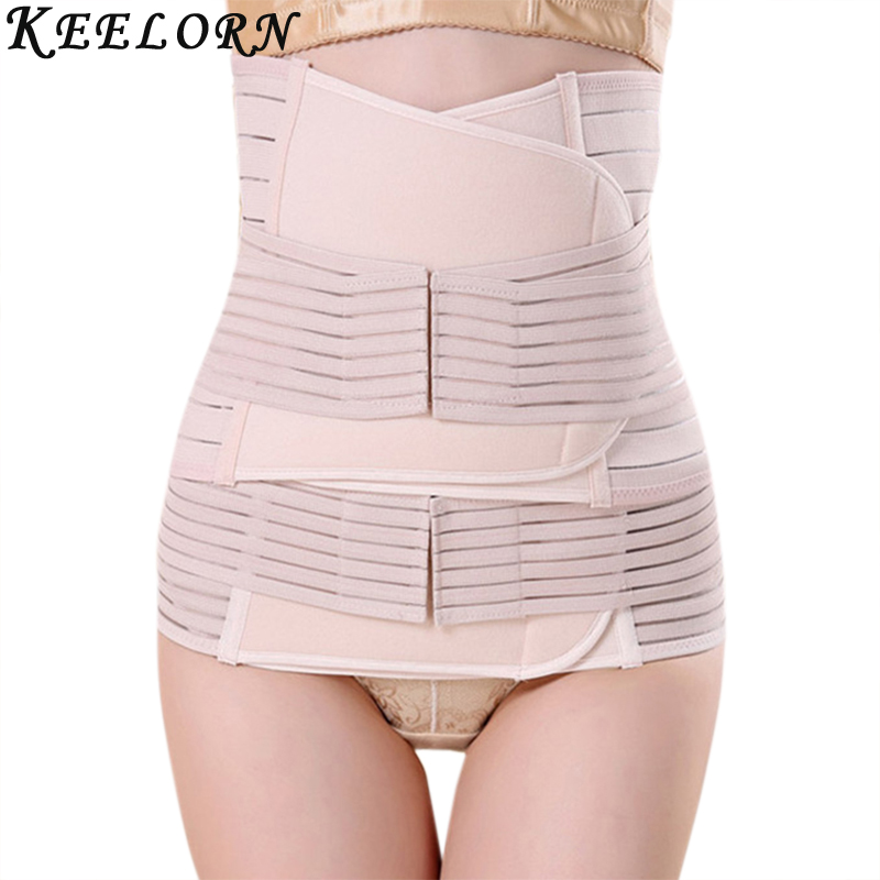 Keelorn 3Pcs Set Maternity Postnatal Belt 2018 New After Pregnancy bandage Belly Band waist corset Pregnant Women Slim Shapers pregnant women belt after pregnancy support belt belly corset postpartum postnatal girdle bandage after delivery birth shaper