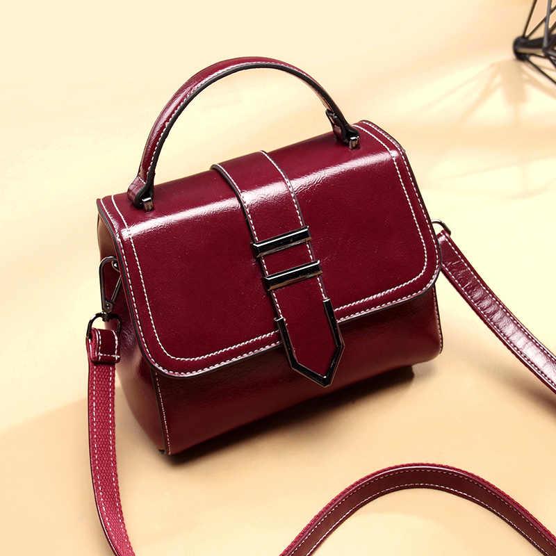 Женские сумки шопперы из натуральной кожи, женская маленькая сумка через плечо, Женская мини-сумка с короткими ручками и кисточками T46