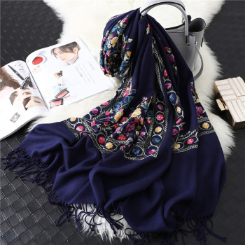 Designer brand women embroidery scarves