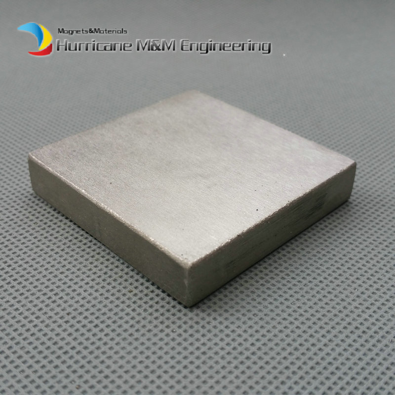 1pc SmCo Magnet Block 50x50x10 mm grade YXG28H 350 degree C High Temperature Permanent Magnets Rare Earth Magnets