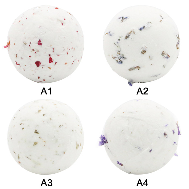40g Bath Bomb Shower Fizzy,Natural Dried Flowers Spa Bomb Bath Salt Moisturizing Skin Spa Bomb Ideal Gift for Women 2