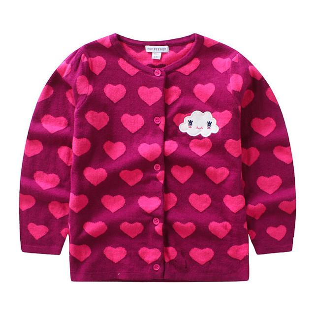 063ea9b2f MBBGJOY Children Sweater Baby Girls Knitted Cardigan Cloud Hearts 1 ...