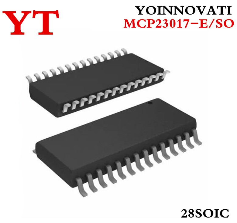 Free shipping 20pcs/lot MCP23017-E/SO MCP23017 SOP28 16-Bit I/O Expander with Serial Best quality
