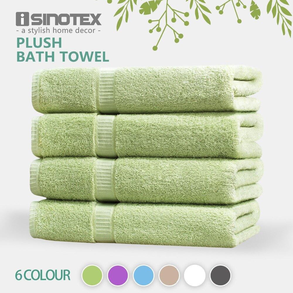ISINOTEX 100% coton égyptien 6 couleurs serviette de bain 70x140 cm séchage rapide adultes lavage vêtements emballage cadeau 620GSM 4 paquets
