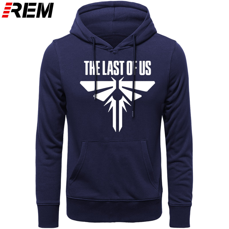 REM Hoodies Style THE LAST OF US Print Men Cotton O-NECK Long Sleeved Casual Streetwear Men's Top Plus Size Hoodies, Sweatshirts