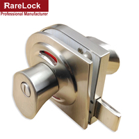 Rarelock Toilet Door Lock Hardware Zinc Alloy Simple Easy To Install Red Green Indicator High Quality