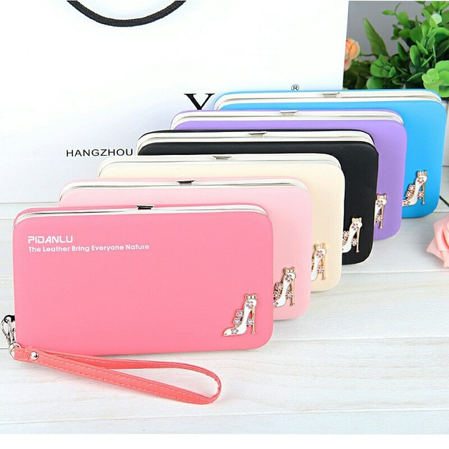 Luxury Brand Leather Wallets Women Fashion Long Hasp Purses Female Credit Card Holders Money Coin Zipper Pocket Phone Clutch Bag