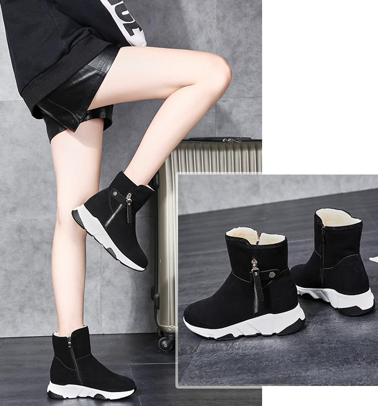New Fashion Women Boots Snow Boots Sneakers Plush High Top Velvet Cotton Shoes Warm Lace-up Non-slip boots 56
