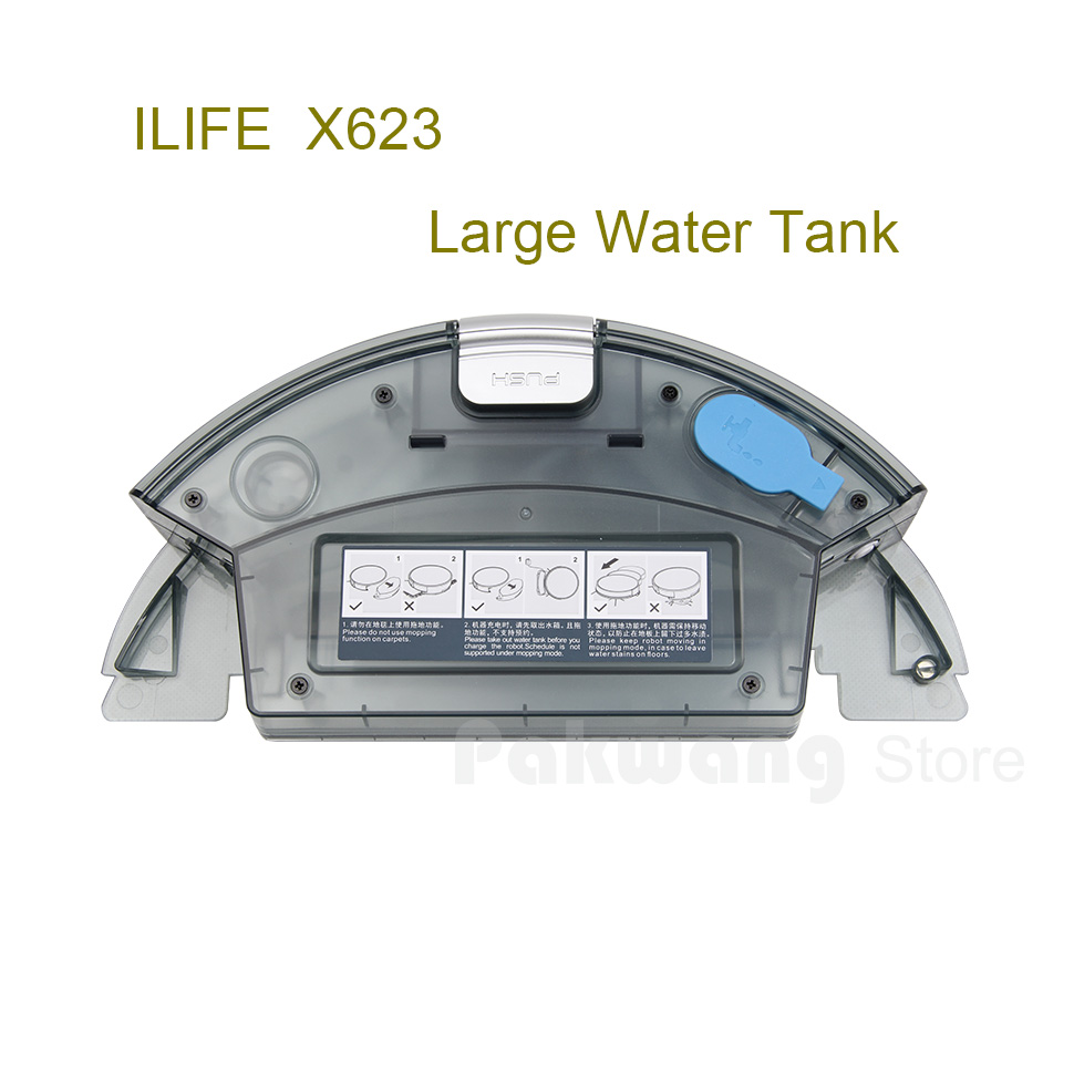 Original ILIFE X623 Large Water Tank And Dust Tank 1 PC Robot Vacuum Cleaner Spare Parts