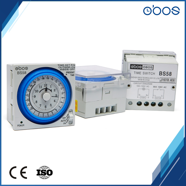 127v small body 24 hours timer switch mechanical type time timer with 96 times on /off per day minimum setting unit 15 mins|hour timer|timer switch|mechanical timer mechanism - title=