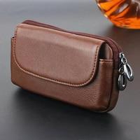 Zipper Man Belt Clip 100 Genuine Cow Leather Mobile Phone Belt Clip Case For Redmi Note
