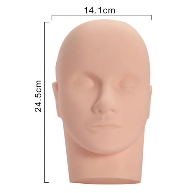 Eyelash Grafted  Training Mannequin Head Canvas Block Head Display Styling Mannequin Manikin Grafting Eyelashes Trainer Tool 5
