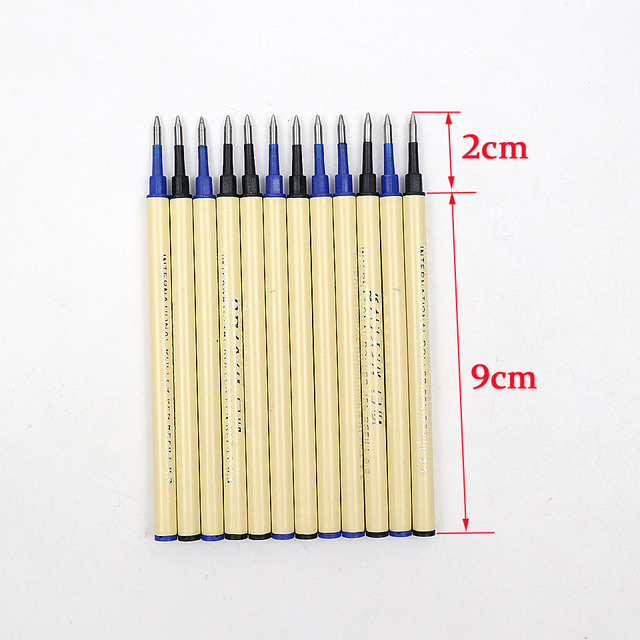 6Pcs High Quality 0.5mm Nib Ballpoint Pen Refills 11cm Length Writing Point Blue Black Ink Ball Pen Refills Rods 5