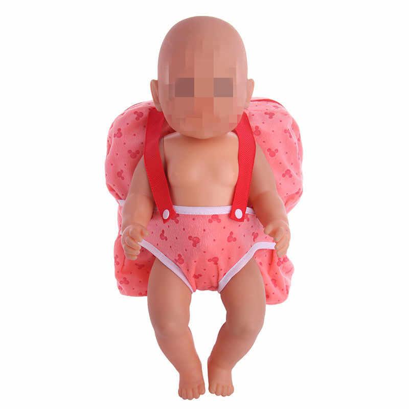 LUCKDOLL открытый переноски кукла рюкзак подходит 43 см Кукла Одежда Аксессуары для девочек поколение подарок на день рождения