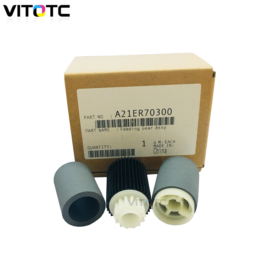 For Konica Minolta bizhub C500 C8050 C6500 C6501 C7000 Feeding gear ass Rubber Roller Pickup Roller Tire A21ER70300 25SA40960For Konica Minolta bizhub C500 C8050 C6500 C6501 C7000 Feeding gear ass Rubber Roller Pickup Roller Tire A21ER70300 25SA40960