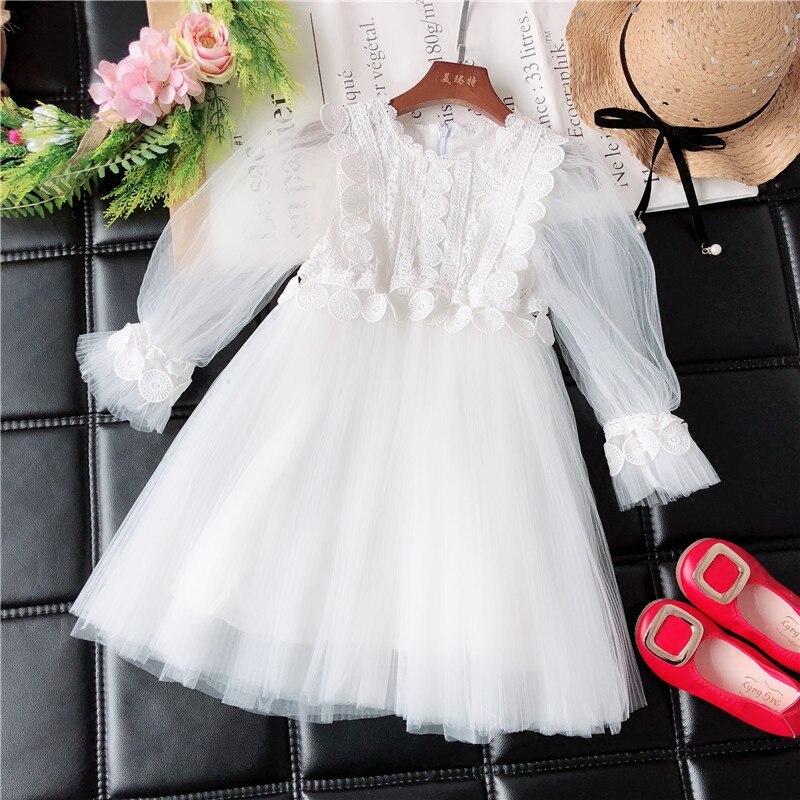 Children princess dress girl Western dress 2018 new spring and autumn new girl fluffy yarn lace dress polesie конструктор полесье семья 108 деталей в ведерке