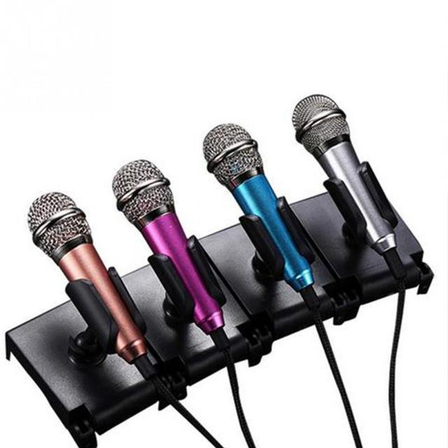4 colores portátil 3,5mm estéreo Studio Mic KTV Karaoke Mini micrófono para Teléfono Celular ordenador portátil ordenador de sobremesa 5,5 cm * 1,8 cm micrófono de tamaño pequeño