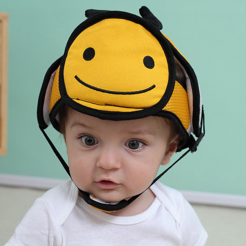 Home Baby Safety Helmet Head Protection Adjustable Soft Cap Crawling Head Hat RU