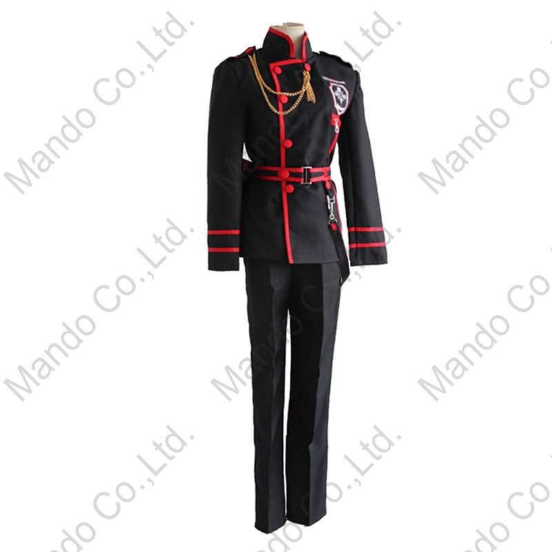 Anime D.Gray-man Allen Walker Cosplay Costumes Man uniform Suit - Costumes - Photo 3