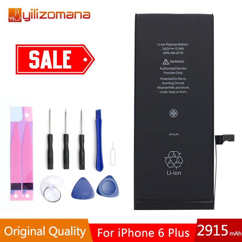 YILOZOMANA Original Capacity Phone Battery 2915mAh For iPhone 6 Plus Replacement Batteries Free Tools Retail Package in Mobile Phone Batteries from Cellphones Telecommunications