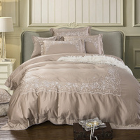 4/6Pcs luxury Egypt Cotton Dream garden Bedding Set embroidery Duvet cover set Bed Sheet Pillowcases Queen King Size bed linen