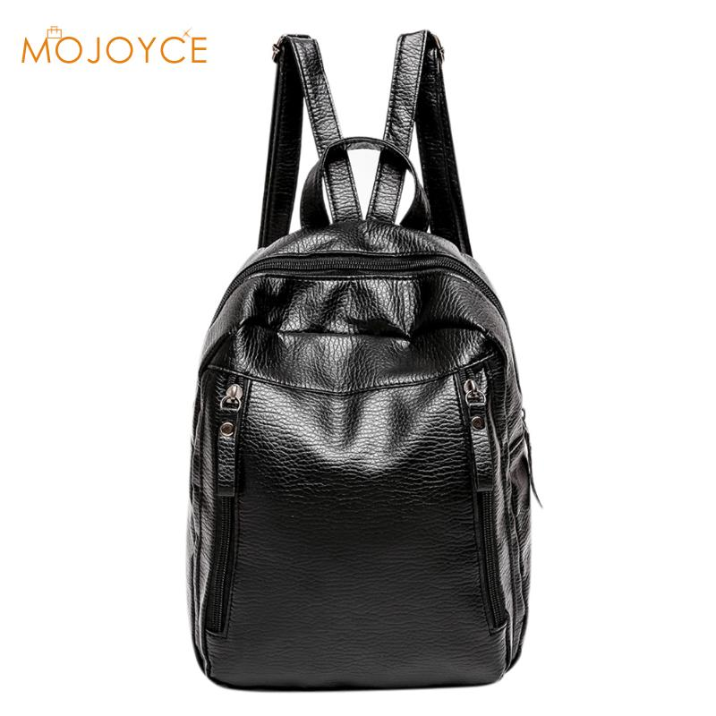 Travel Backpack Korean New Rucksack mochila Women Female Leisure Student School Bag Vintage Fashion Soft PU Leather Women Bag new canvas backpack travel bag korean version school bag leisure backpacks for laptop 14 inch computer bags rucksack