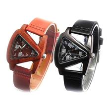 1pc fashion men women lovers watches wrist clocks Wooden Watch Genuine Leather strap Quartz Wristwatches high quality gift H4