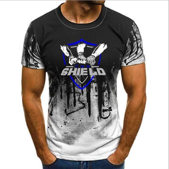 Wrestling Roman Reigns The Shield Shield United Men's T-shir…