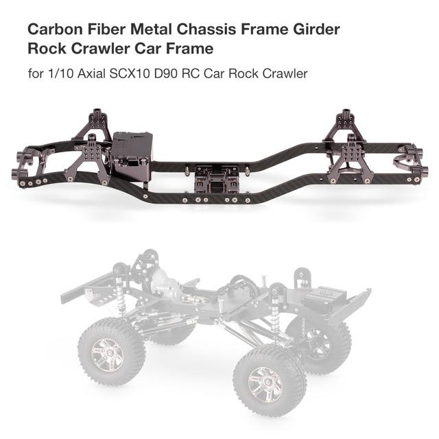 RC Car Carbon Fiber Metal Chassis Frame Girder RC Cars Frame for 1 ...