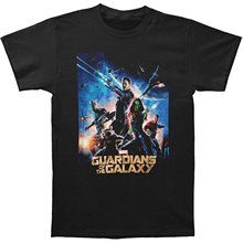 O Neck Printing Short Sleeve Mens Guardians of the Galaxy Movie Poster Top Tees