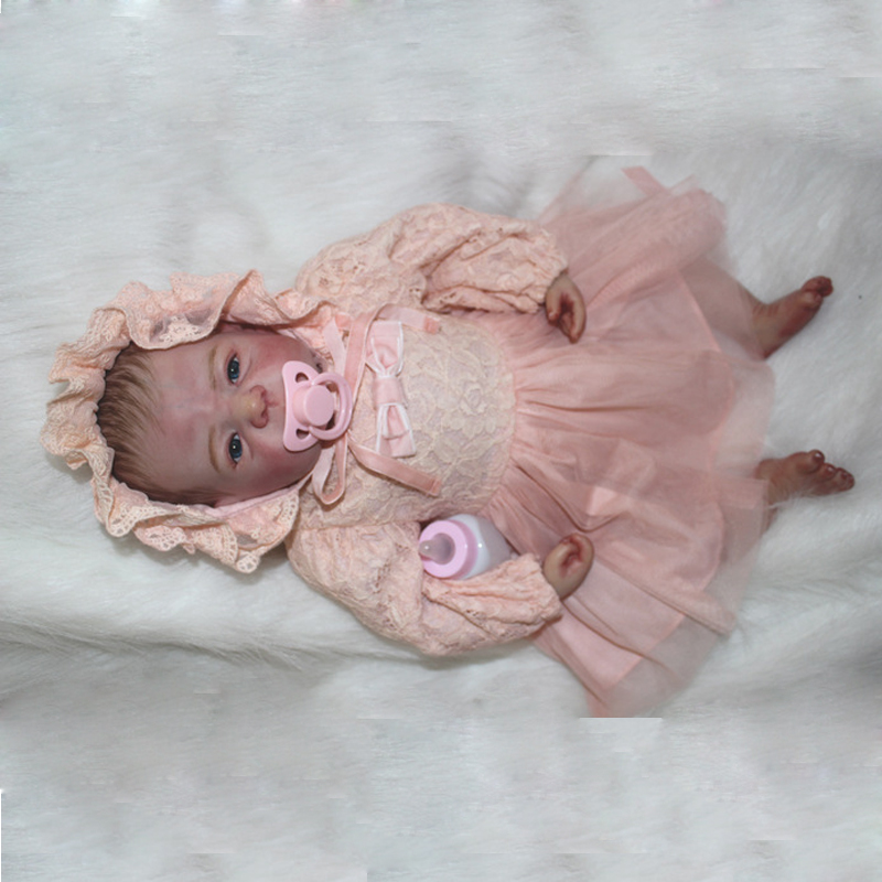 Reborn newborn Dolls 22'' Handmade Lifelike Baby Silicone Vinyl Boy Girl Doll