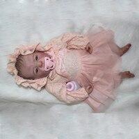 Reborn новорожденных куклы 22 ''ручной работы реалистичные детские Силиконовые Винил мальчик девочка кукла