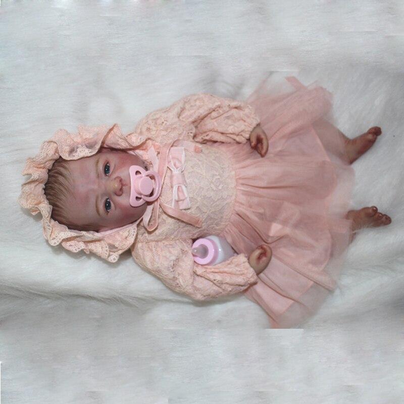 Reborn newborn Dolls 22'' Handmade Lifelike Baby Silicone Vinyl Boy Girl Doll [sgdoll] 2017 new 22 lifelike reborn pink dress baby girl dolls silicone vinyl handmade w bottle toy doll 16070607