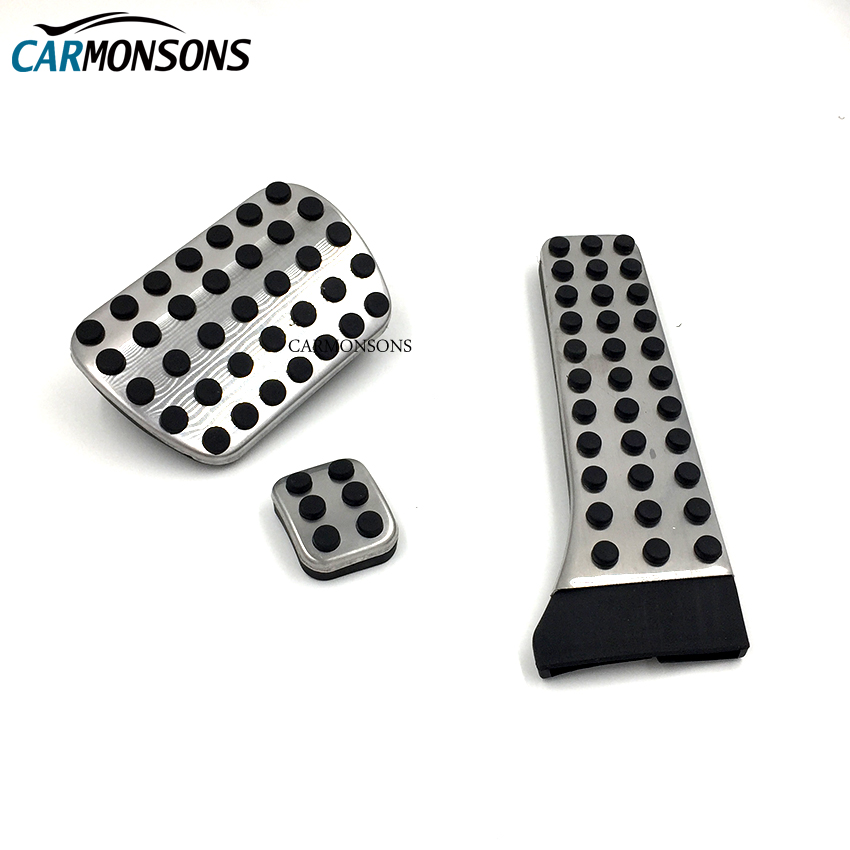 Carmonsons Stainless Steel MT AT Brake Clutch Footrest Pedal Pad Cover for Mercedes Benz E C S GLK SL R172 W222 R231 W204 X204