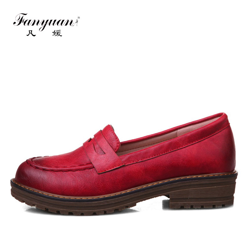 brand Fanyuan New Handmade PU leather Large size shoes women Flat Stylish Rome Slip-on soft Casual girls shoes Loafers sapatos de la chance women flat shoes new autumn slip on student casual shoes solid pu ladies loafers shoes soft nurse shoes white blue