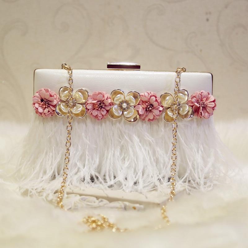 LOUCHUNLAN 2018 fashion chain bag mini bags flower diamond day clutch one shoulder cross body women's handbag wedding bag