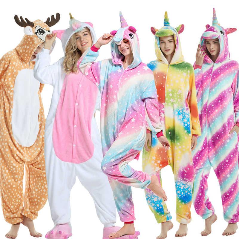 Женская кигуруми, единорог, Детская Пижама для девочки, одежда для мальчиков, костюм аниме, косплей, Ститч, единорог, животное, Onesie, одежда для сна, детские пижамы