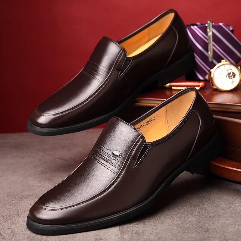 De black Black Robe Doux Mode Chaussures Quatre brown Hiver Mens Mariage Mocassins brown Saisons D'affaires Cimim Hommes Fur Fur Cuir Marque En gnwPqUUp