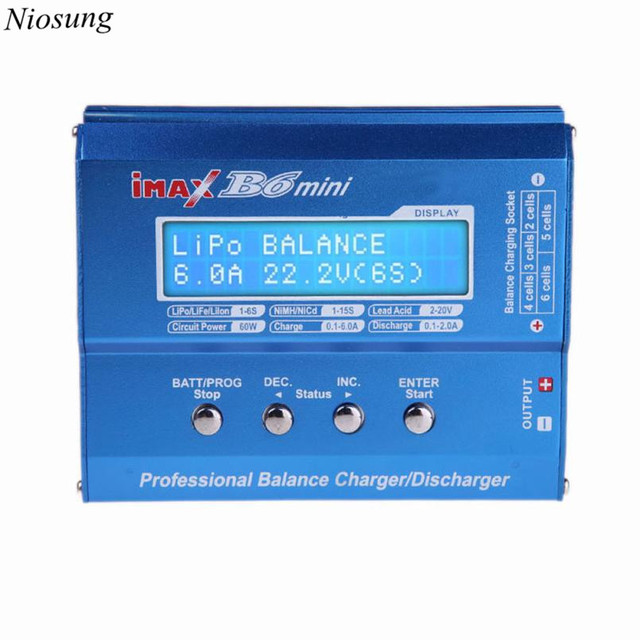 Niosung Hot iMAX B6 Mini Balance Charger Discharger for RC Battery Charging New