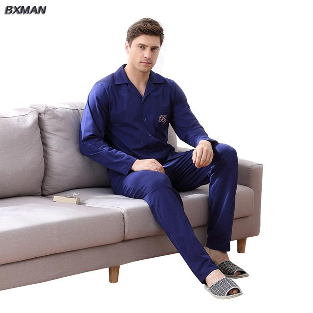 BXMAN Nueva Primavera y Otoño de Los Hombres Pijamas de Algodón de Moda de Punto de los hombres de gran tamaño de Punto trajes Homewear Envío Libre