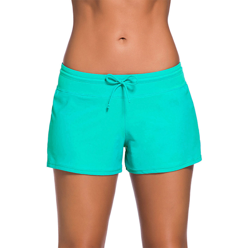 a80c90e28f684 2018 Sexy Women One piece low waist swimming trunks Beach Pants board shorts  Leisure Split swimsuits Summer -in Surfing & Beach Shorts from Sports ...