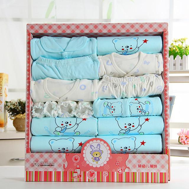 16 unids/set 100% algodón recién nacido unisex ropa de bebé recién nacido establece verano de regalo recién nacido del bebé trajes ropa interior lndfant