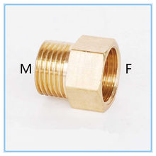 "Copper M/F 1/8"",1/4"",3/8"",1/2"" Male to Female Threaded Brass Coupler Adapter Brass Pipe Fitting(China)"