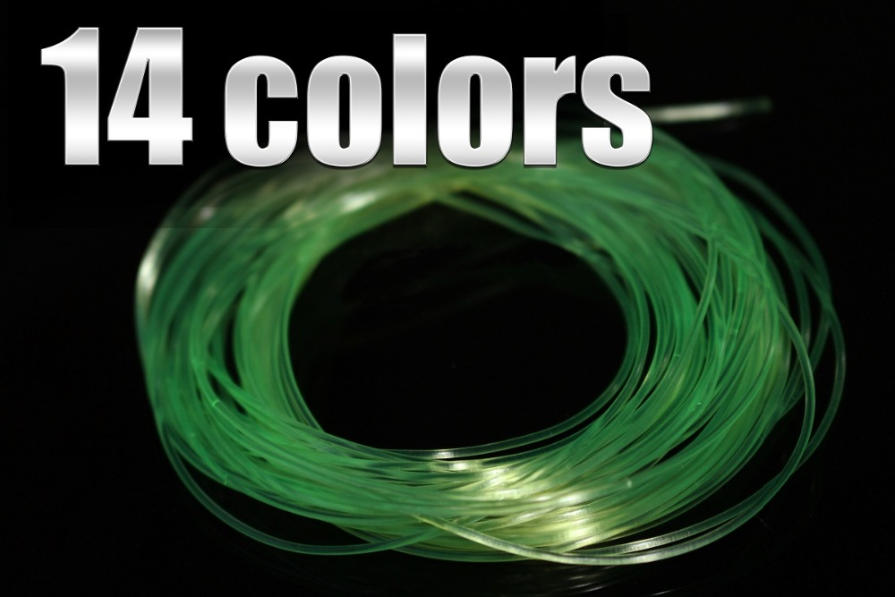 14 Colors 0.8 MM Fly Tying Rib Round Larvae Nymph Ribbing Clear Stretch Body Fly Tying Thread Materials [1 pcs] 2 meter fly tying glitter rib chironomid nymph braid line olive black pearl red gold silver brown color