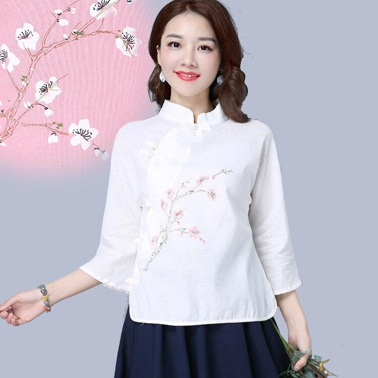 2019 été traditionnel chinois chemise blouse femmes oriental cheongsam top kimono cardigan linge chinois vêtements