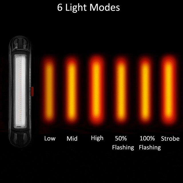 Rockbros luz de capacete para bicicletas 400lm, luz dianteira, luz para guidão ou capacete, ciclismo, recarregável, luz piscante de segurança, luz traseira 5