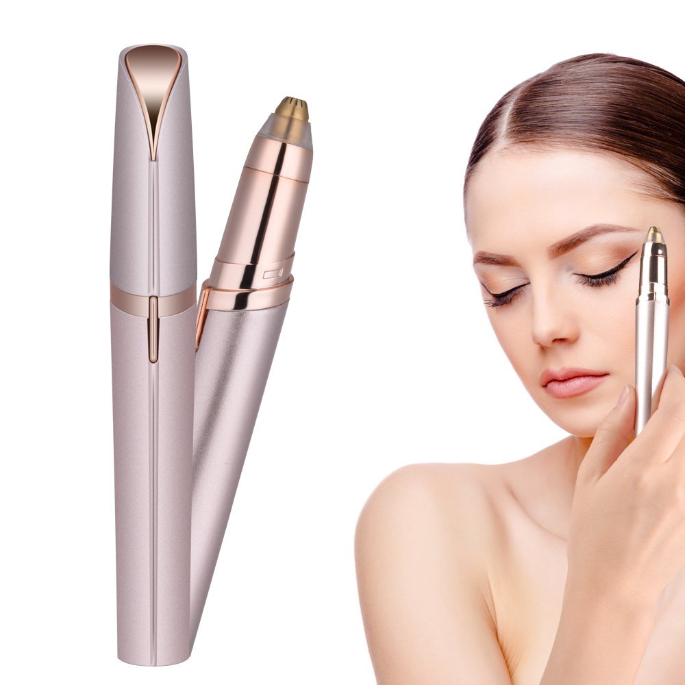 Elektrische Gesicht Augenbraue Haarentferner Epilierer Mini Augenbraue Rasierer Instant Schmerzlos Portable Epilierer Rasieren Augenbraue Trimmer
