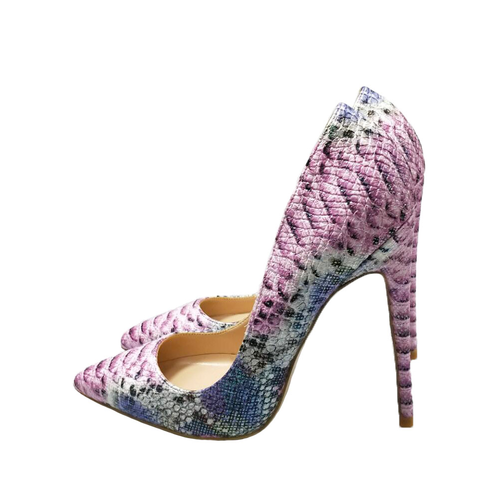 Pink High Heels For Wedding: Pink High Heels 2018 Snake Print Shoes Pumps Party Wedding