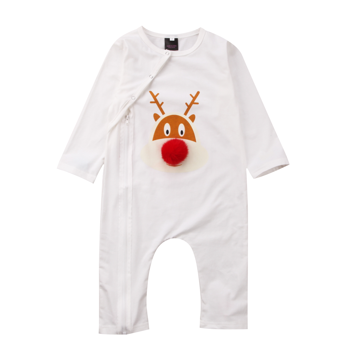 2017 newborn xmas pajamas set christmas cosplay romper long sleeves baby deer sleepwear cute nightwear